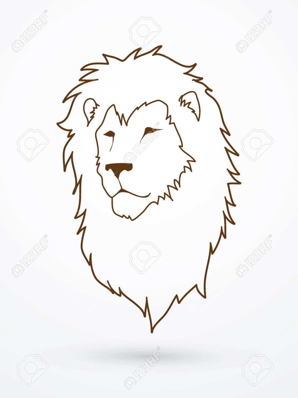 Lion Head Outline Graphic Vector Royalty Free Cliparts Vectors And Stock Illustration Image 66646814 Download this free icon about lion face outlined front, and discover more than 10 million professional graphic resources on freepik. lion head outline graphic vector