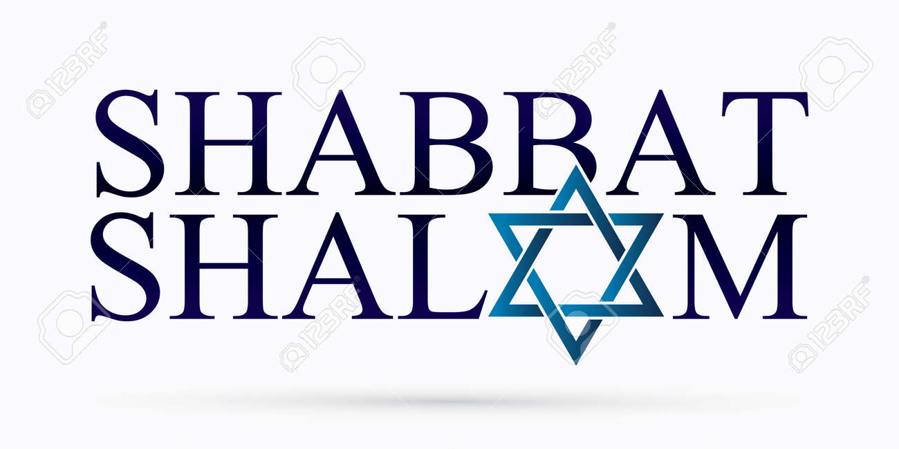 Shabbat Shalom text design Shabbat Shalom is a Hebrew word meaning