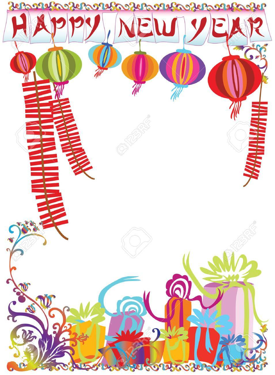 Illustration new year sign and ornament for decoration background design. Stock Vector - 7505768