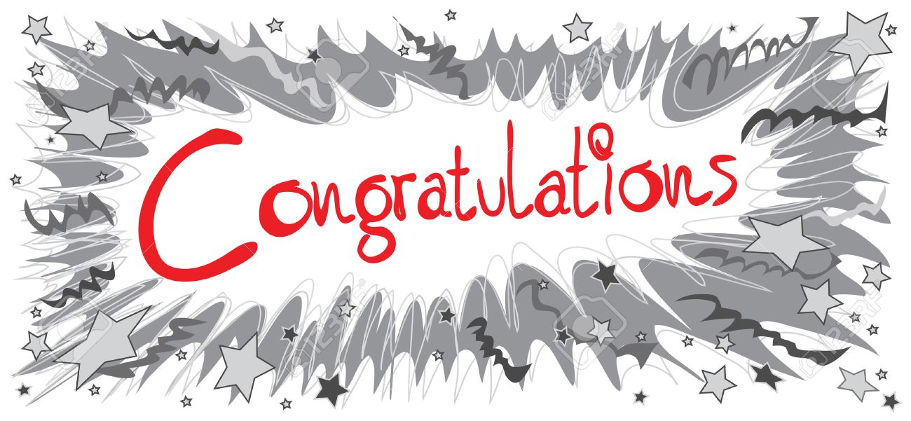 Congratulations Word Red Color Graphic Design Pencil Sketch Boom ...