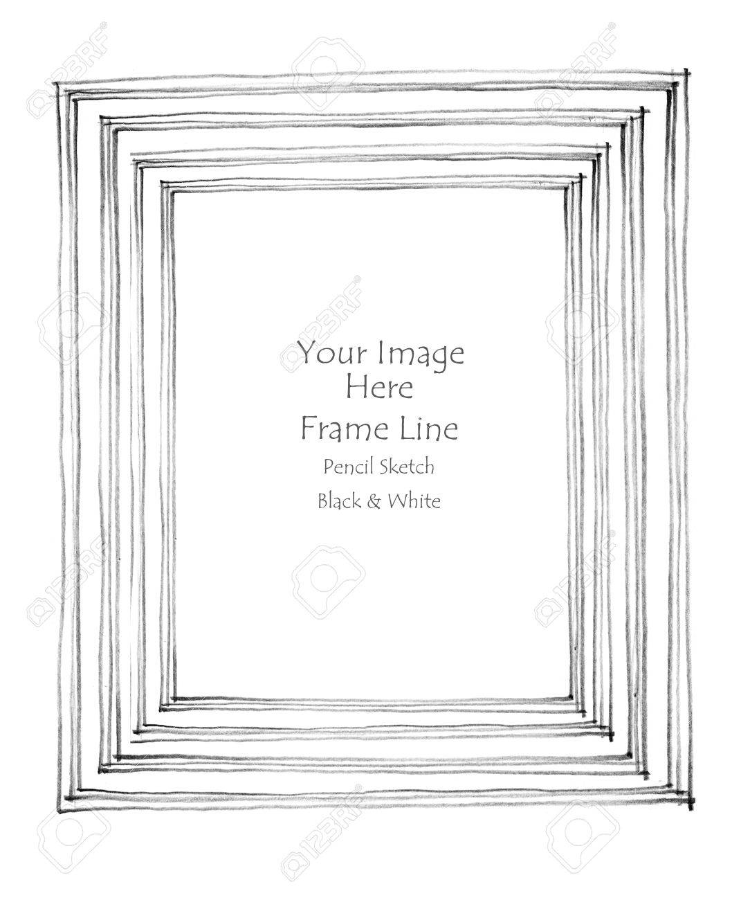 Black and white pencil sketch line frame by hand from my imagination