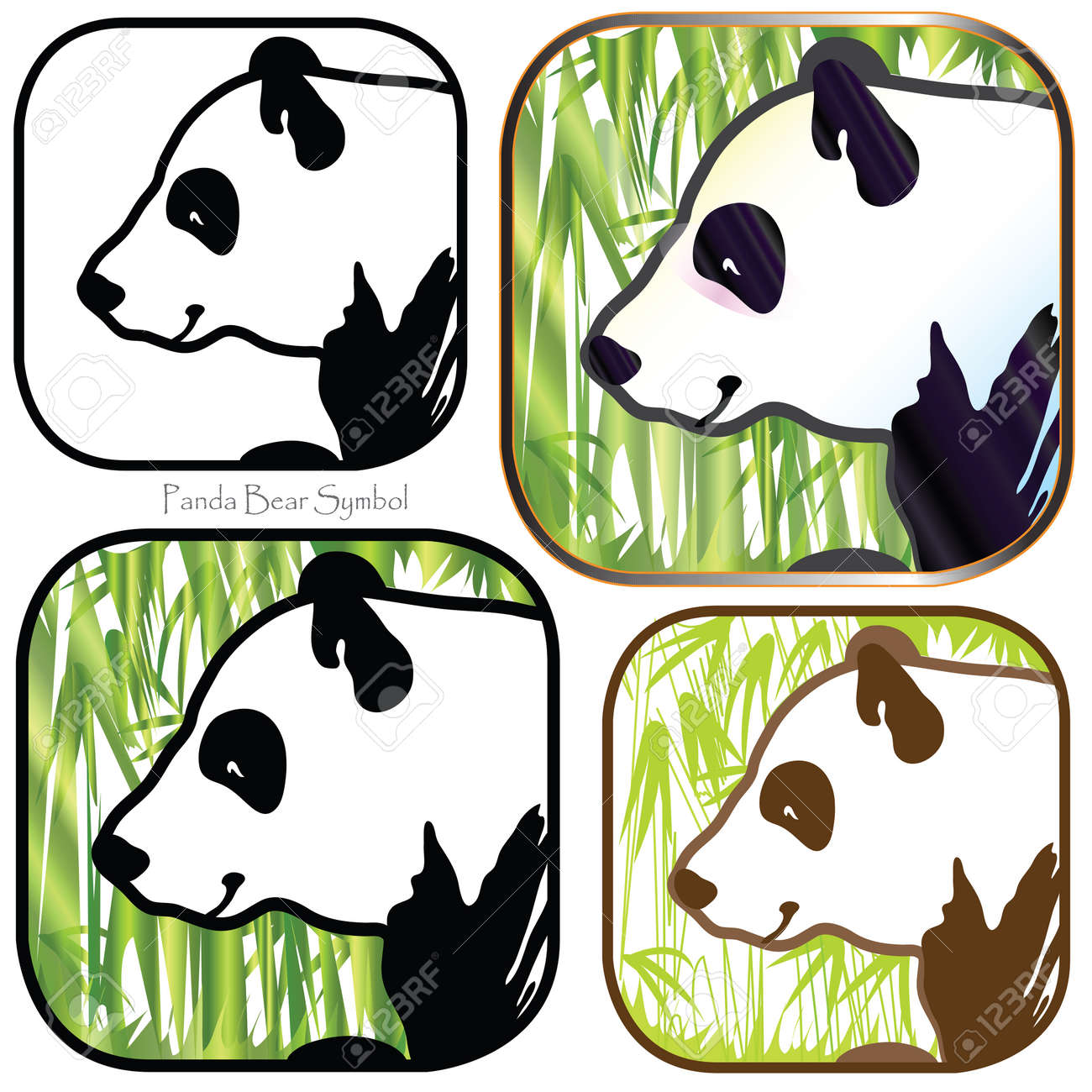 Panda Bear Symbol Cartoon Graphic Design One Color Out Line To Full Colors Fantasy You Can