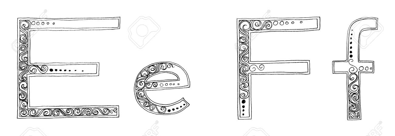 Calligraphy Designs Freehand Pencil Sketch And Scan Concept Fancy