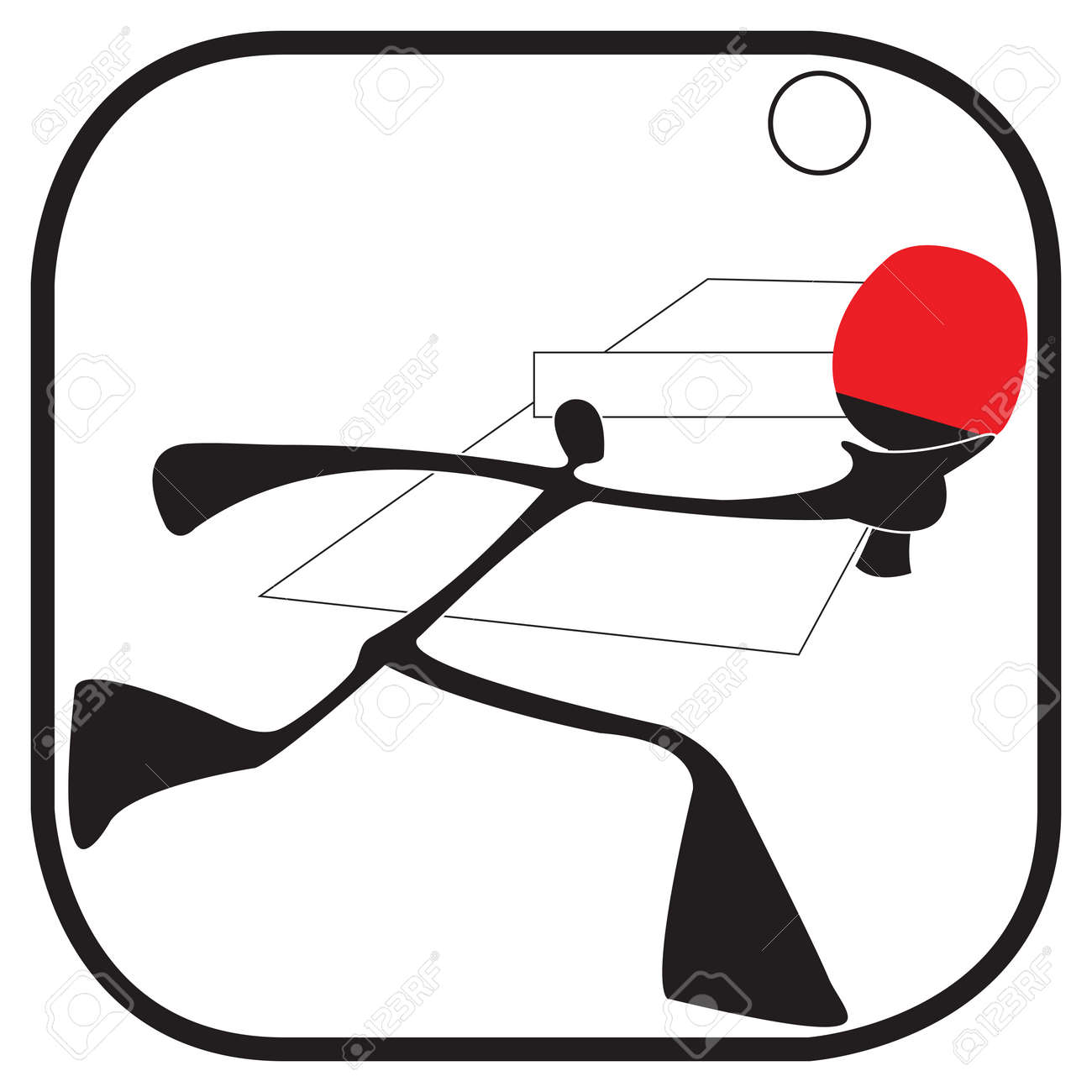Sombra Hombre Simbolo De Dibujos Animados De Accion Juego De Tenis