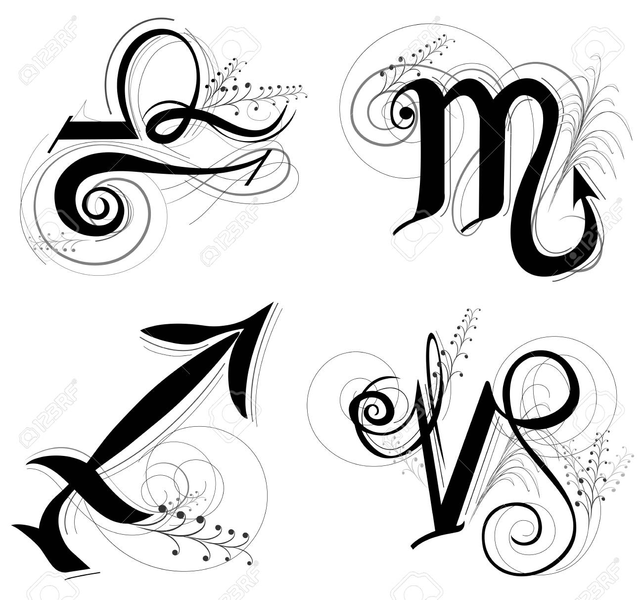 Letter Horoscope, zodiac or Astrology symbol are Libra Scorpio