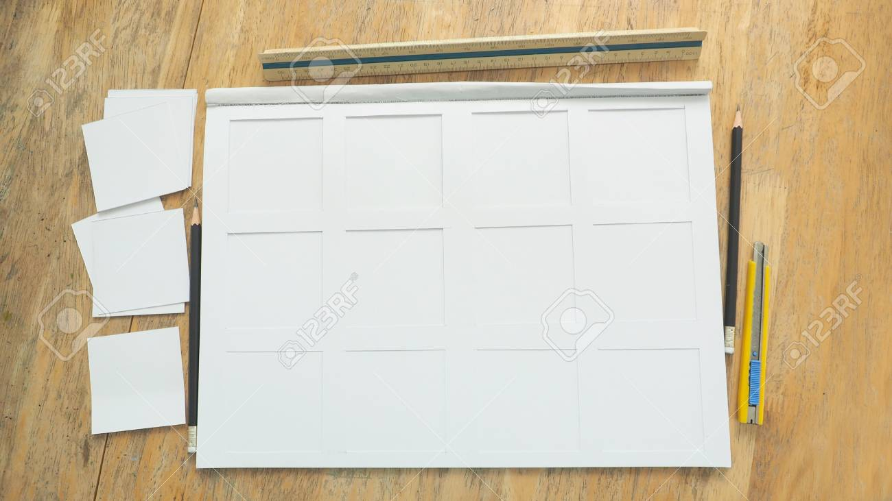 White Paper Frame 200gsm Texture And Cutting Rectangular Has.. Stock ...