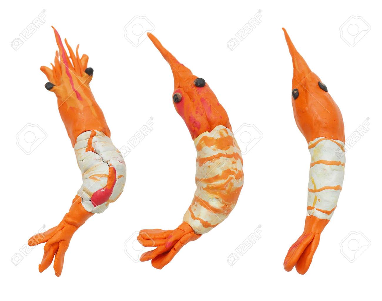Mold clay or dough shrimp sea food or Shu shi and Dim sum create