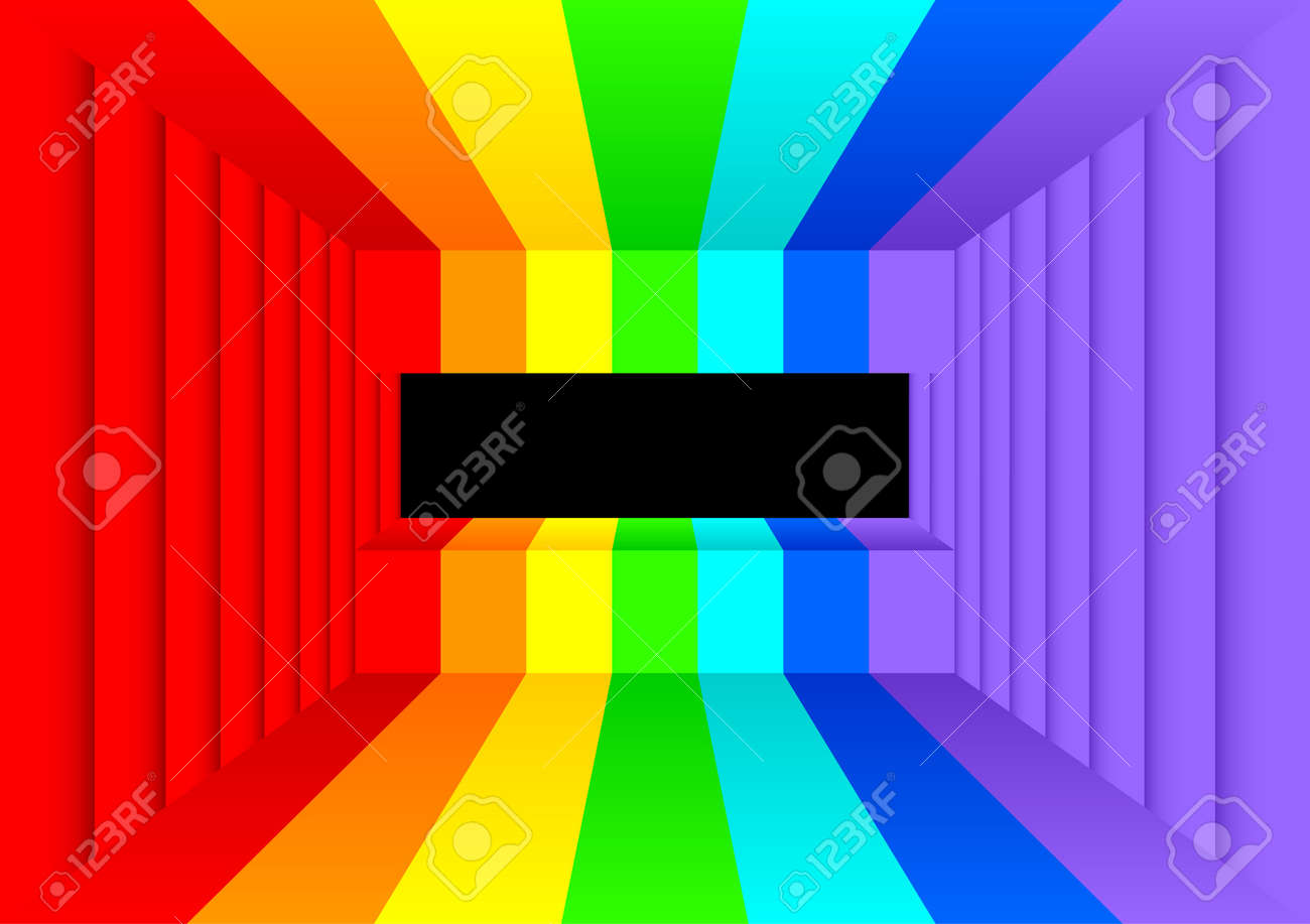 Cool Abstract Room The Room Is Painted Colors Of A Rainbow On Home Interior And Landscaping Staixmapetitesourisinfo