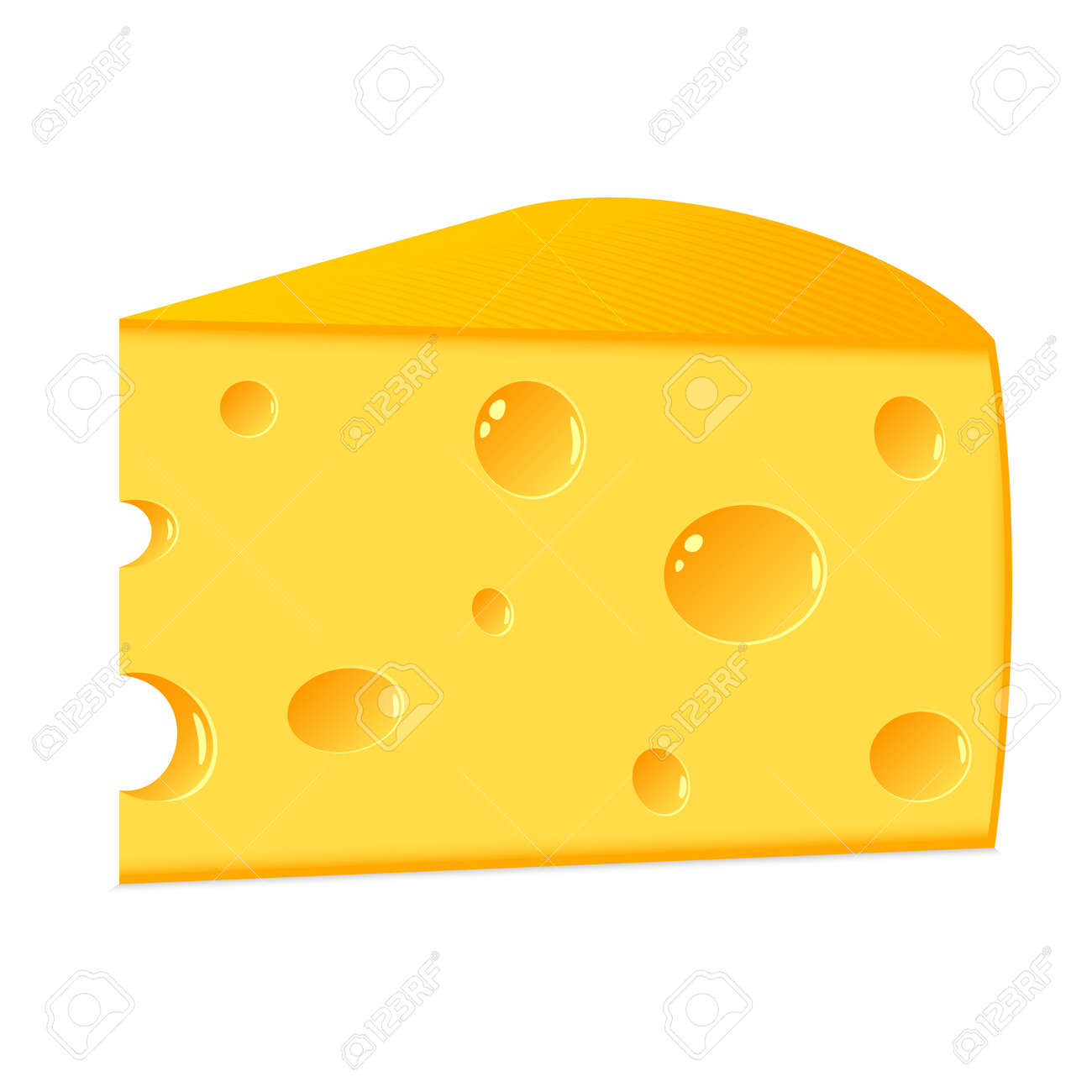 the isolated slice of cheese on a white background royalty free rh 123rf com Cheese Slice Clip Art Black American Cheese Slice Clip Art