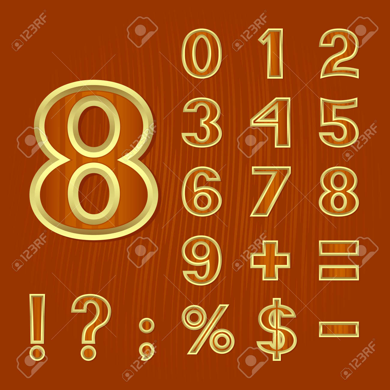 The mathematical symbols and punctuation marks on a brown the mathematical symbols and punctuation marks on a brown background the background imitates a wooden biocorpaavc Gallery