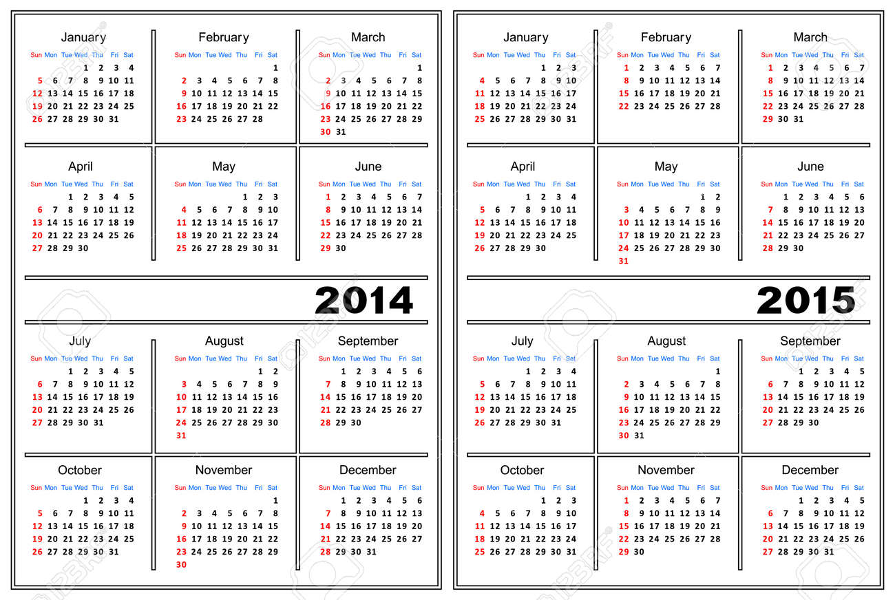 Template Of A Calendar Of White Color A Calendar For 2014 And