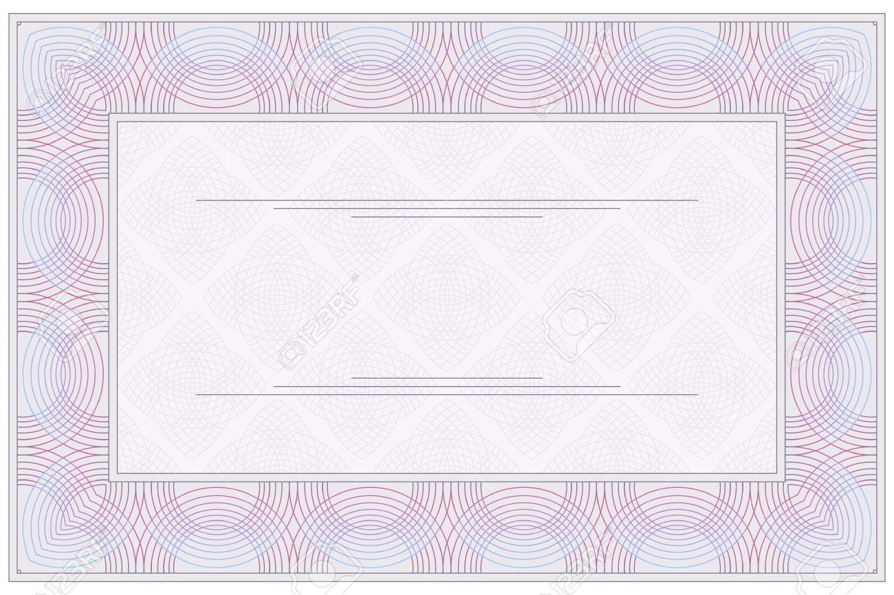 Empty Blank Of The Voucher Or Certificate Royalty Free Cliparts – Blank Voucher