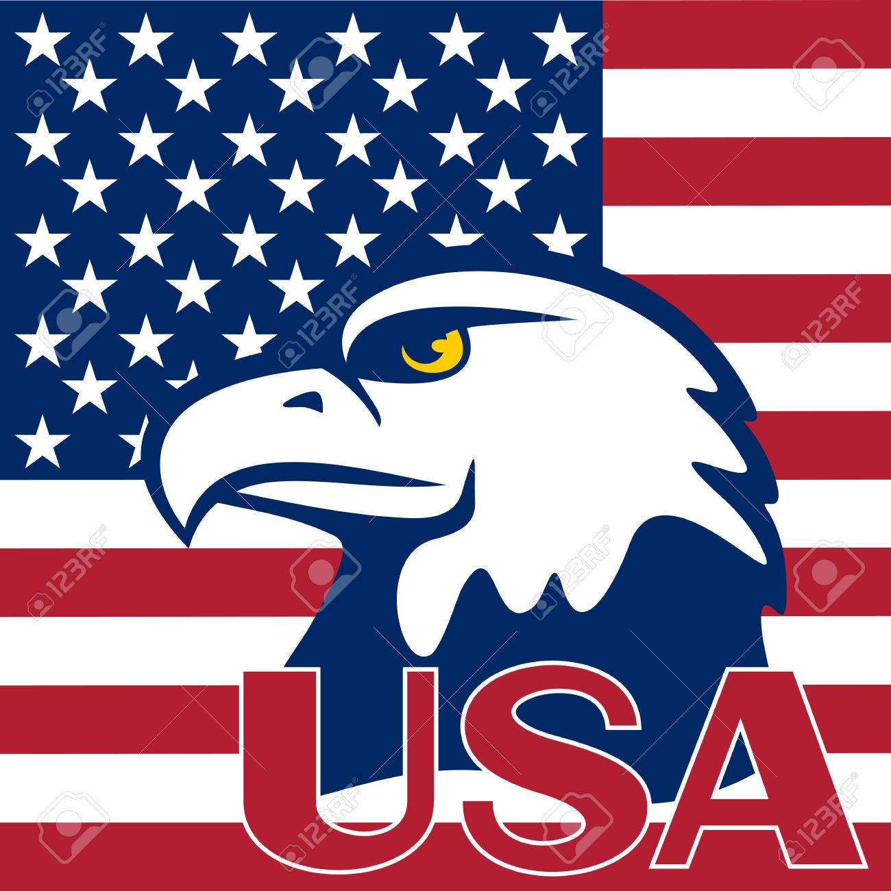 Eagle Is Located On A Flag Of The Usa Symbols Of The United