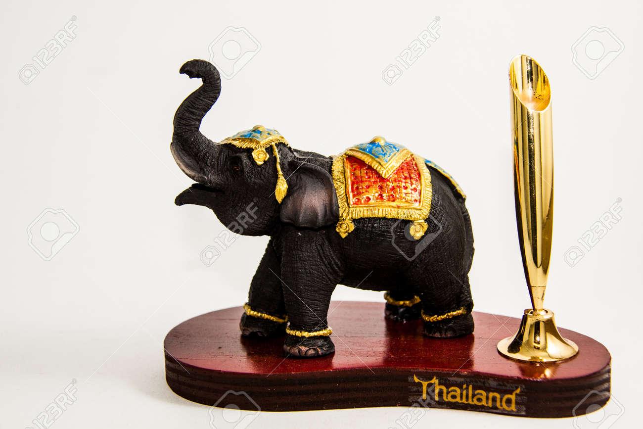 thailand elephant color black resin for input pencil home decor