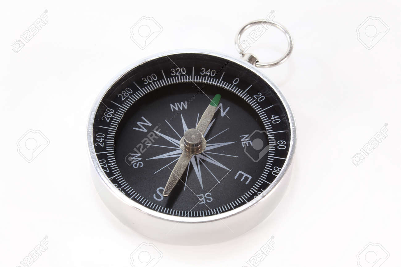 a small compass on a white background Stock Photo - 9970146