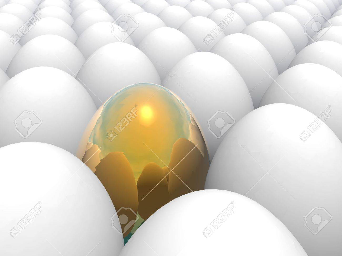 easter surprise - golden egg (see more in my potfolio) Stock Photo - 595323