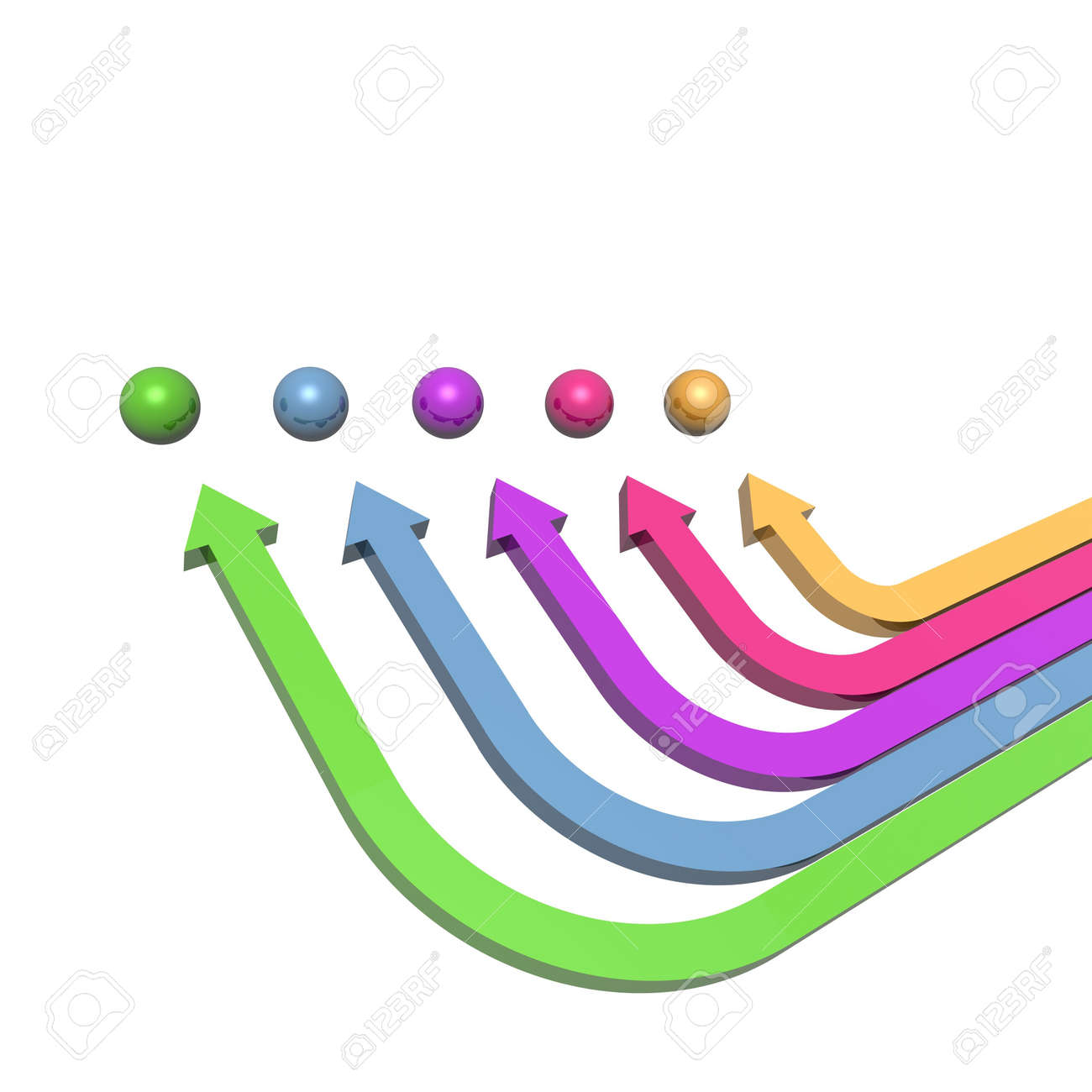 3D colorful arrows (high resolution) Stock Photo - 2553629