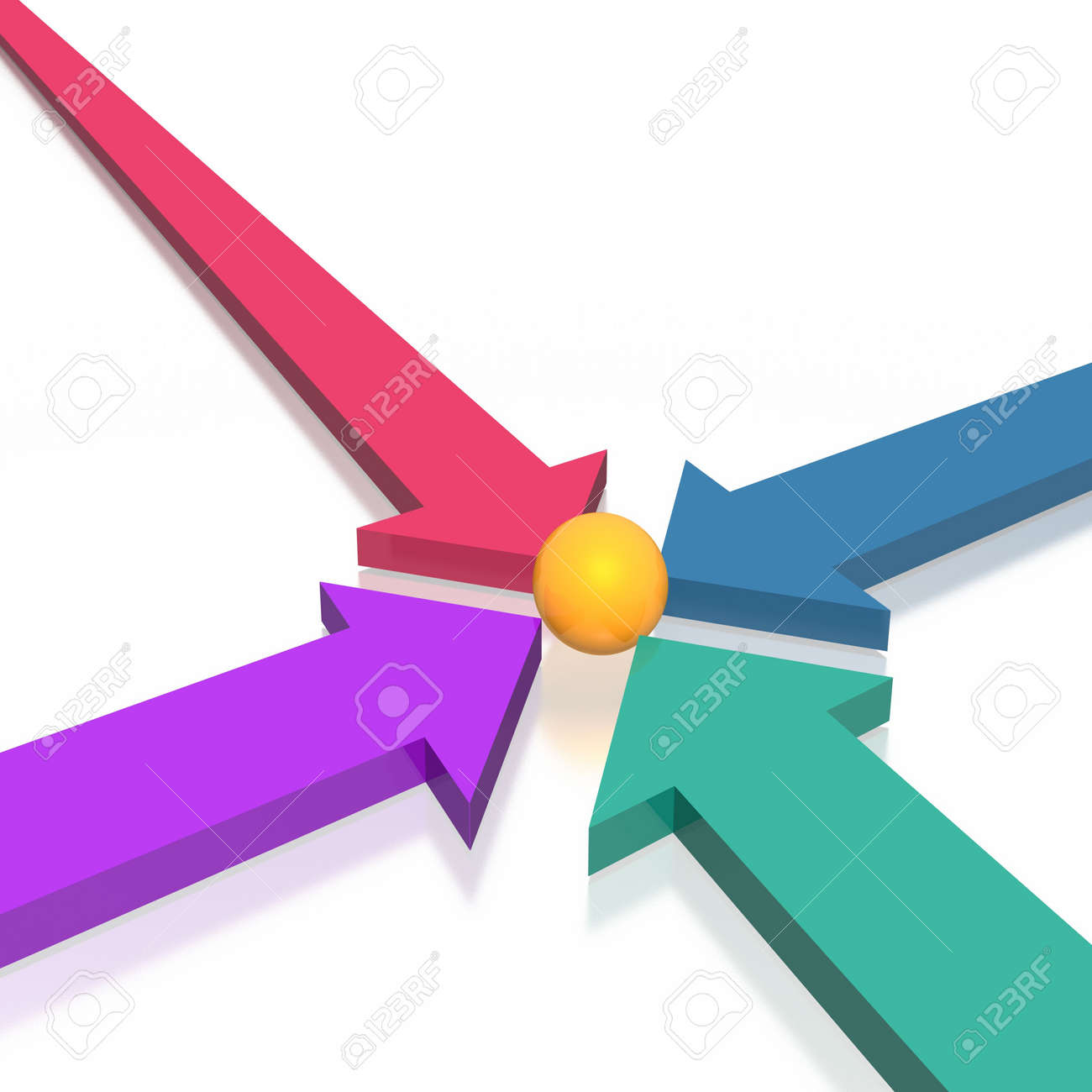 3D colorful arrows (high resolution) Stock Photo - 2601204