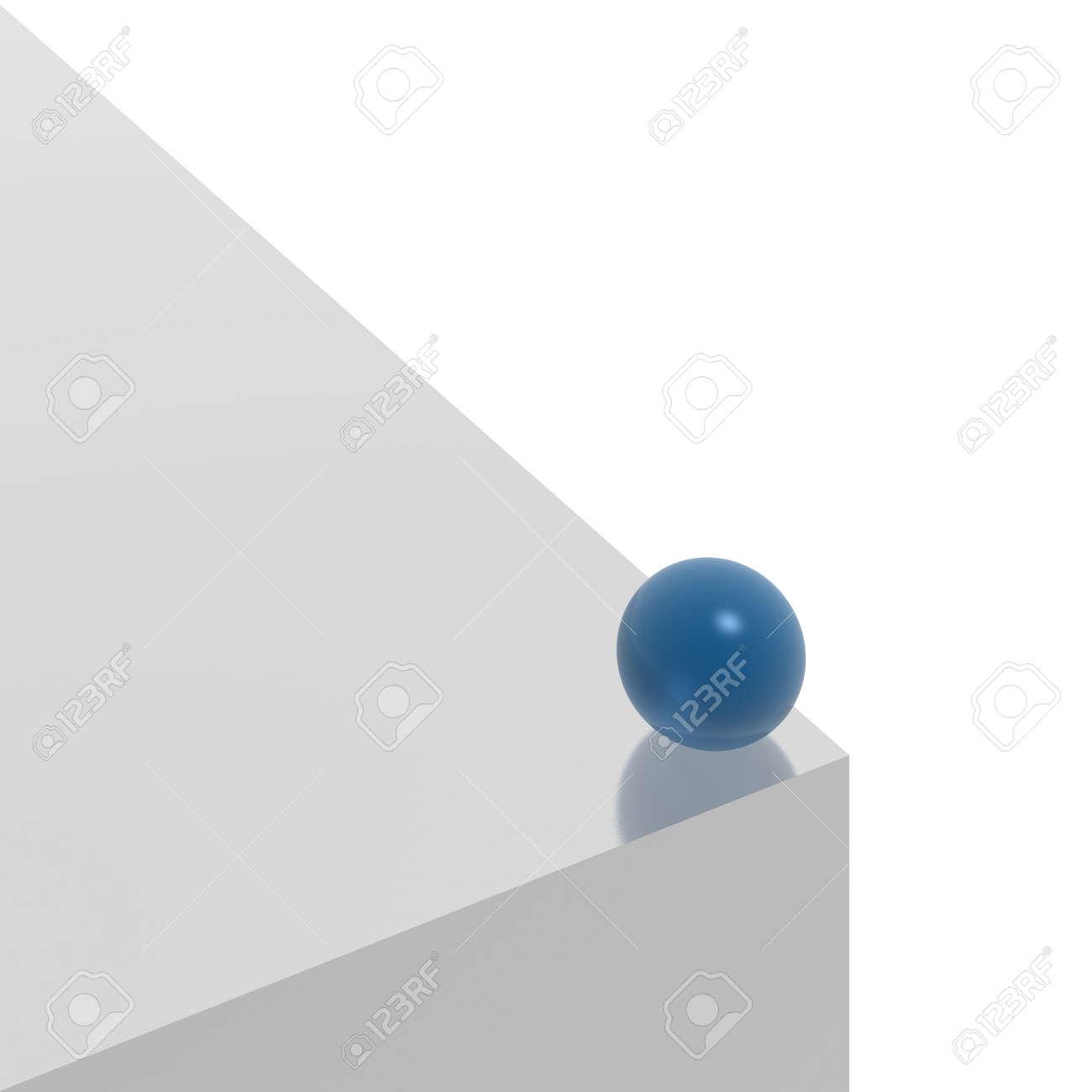 blue sphere on the edge Stock Photo - 3731158