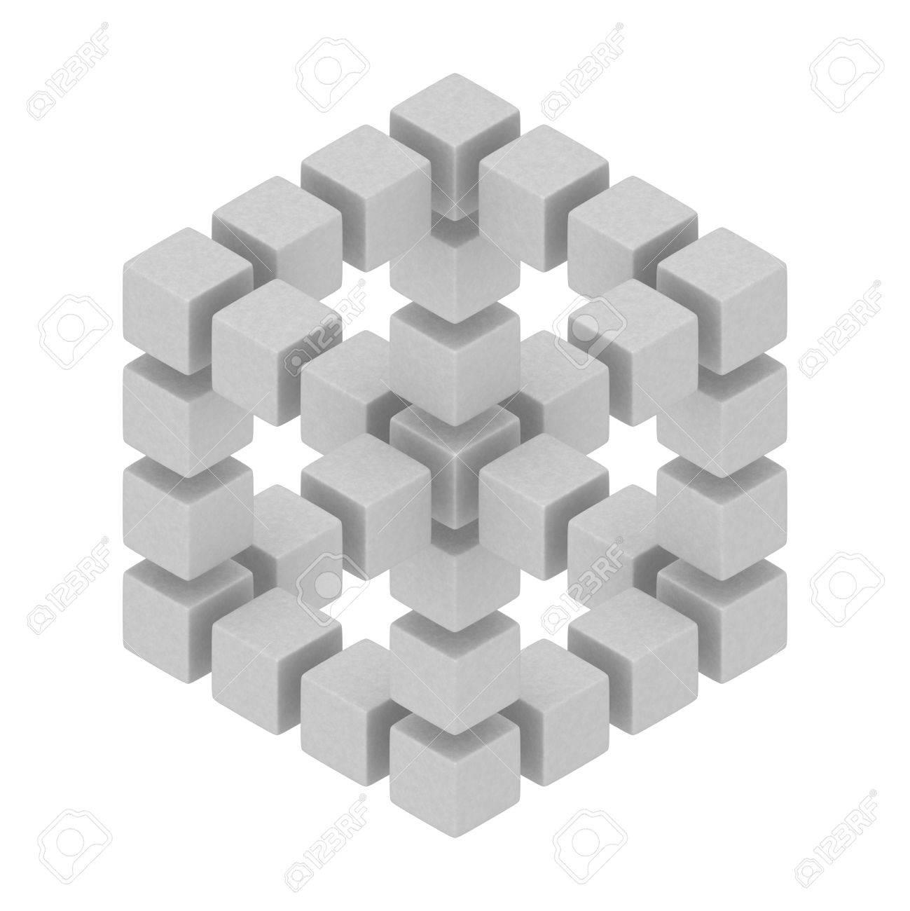 cubes hexagon 3d optical illusion Stock Photo - 12450439