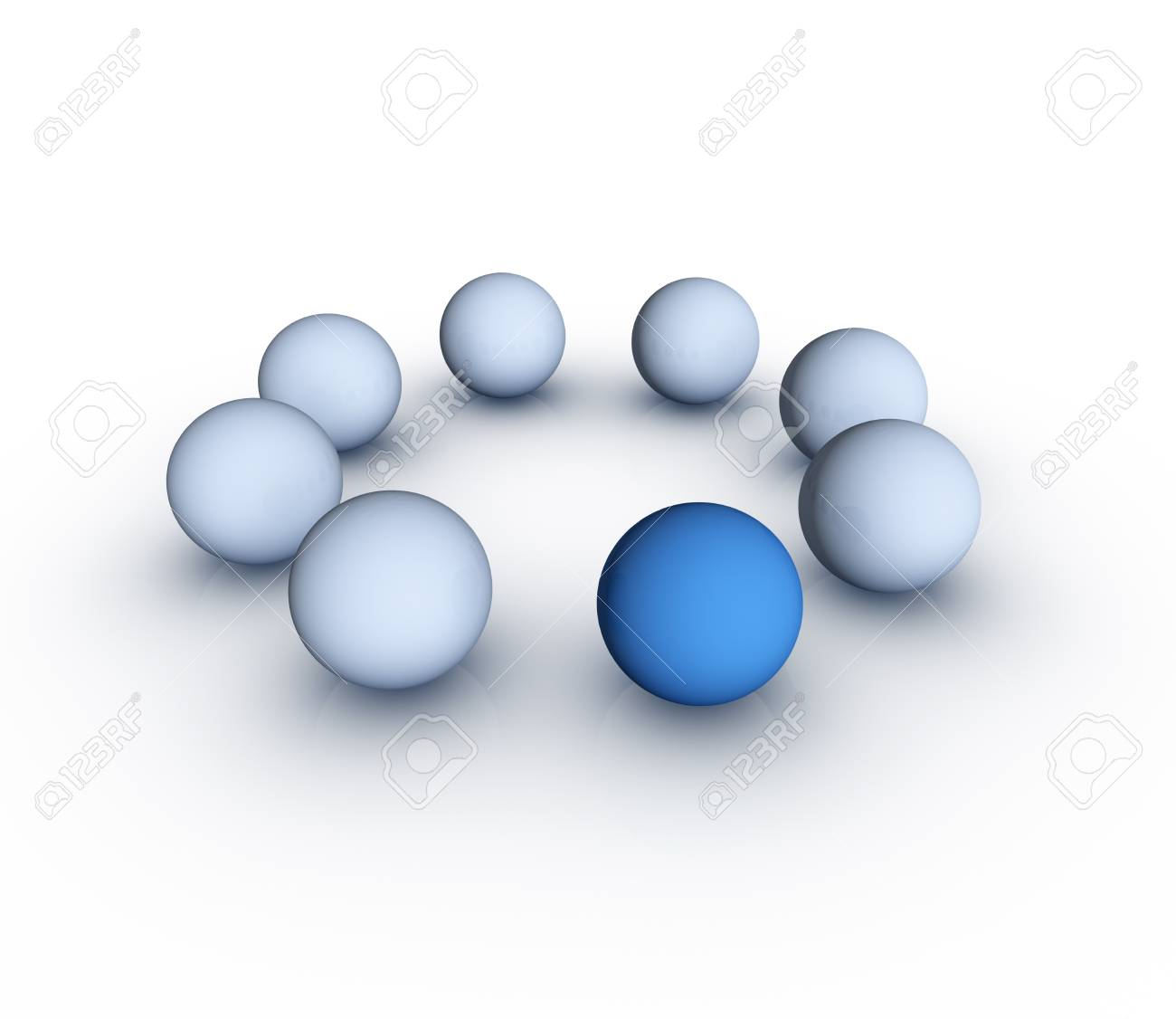 One Different Element  Standing Out From The Crowd Concept Stock Photo - 12793957