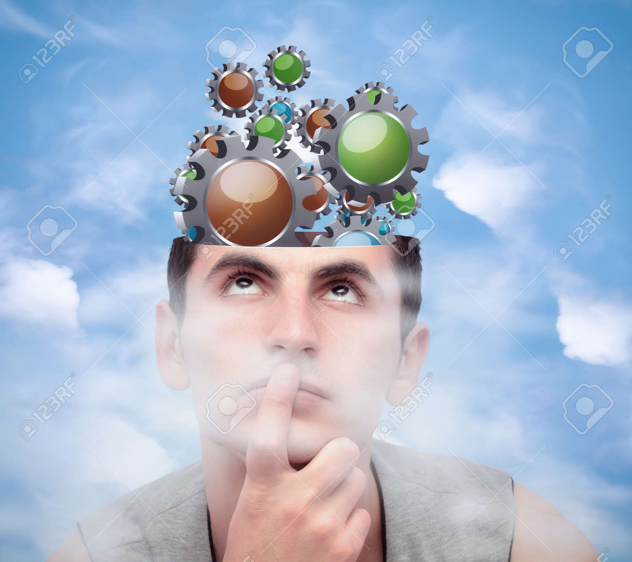 Image result for man brainstorming