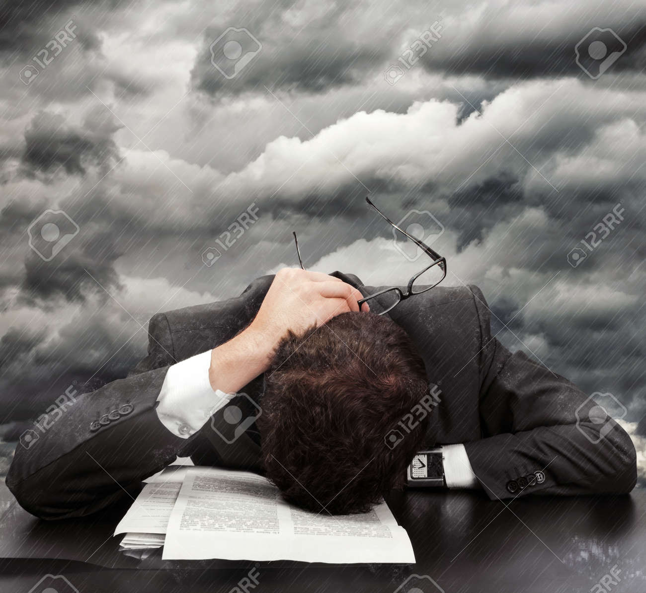 Concept about problems and frustration at work Stock Photo - 16951543