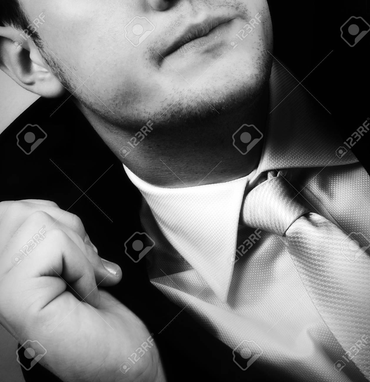 Close up image of elegant businessman posing for fashion Stock Photo - 17662840