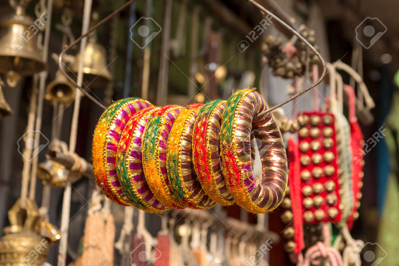 sri nadu bangle bangles stock a of corridor meenakshi temple in hindu shop tamil india photo madurai