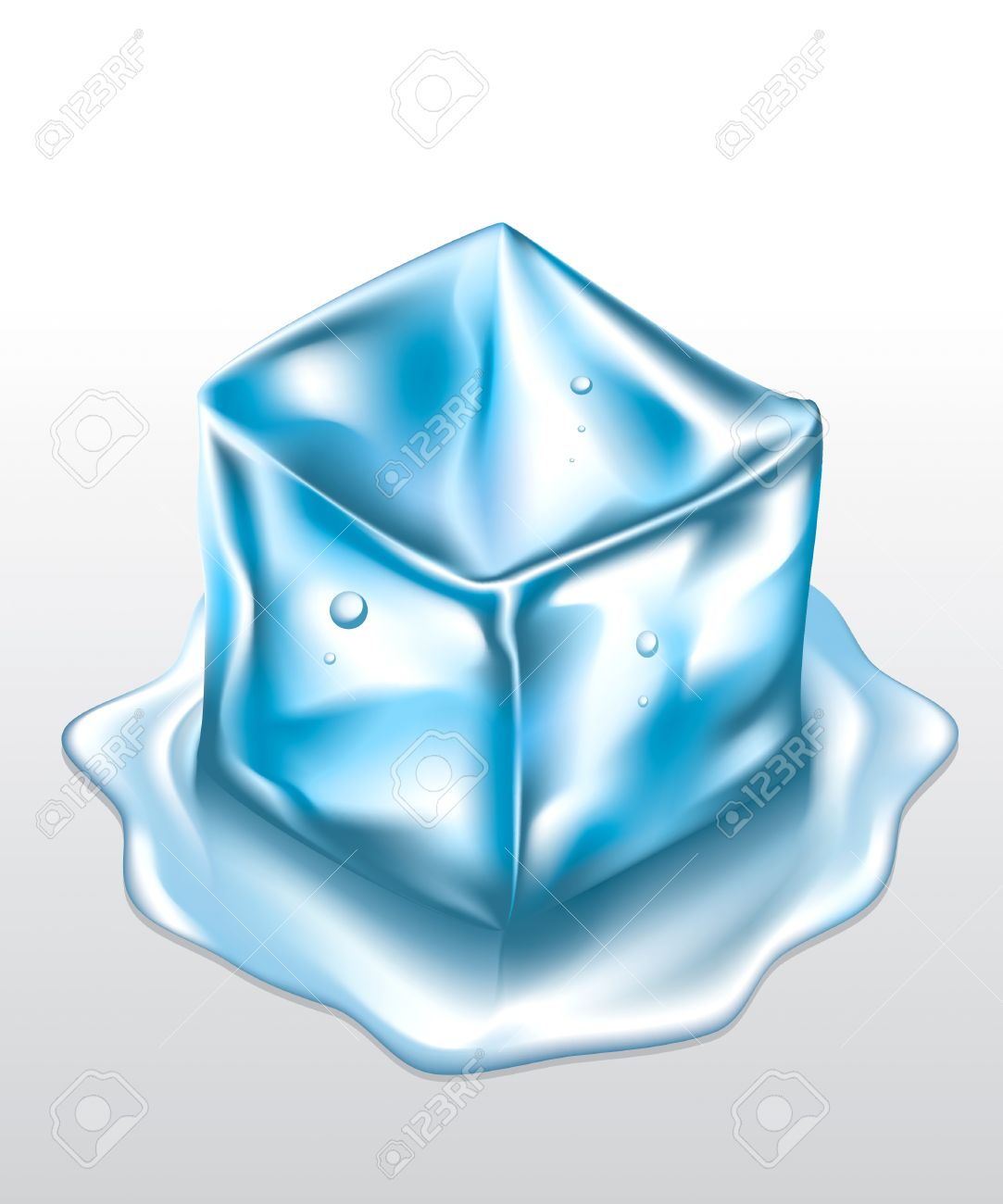 Ice Cubes Drawing Vector Ice Cube Mesh Drawing
