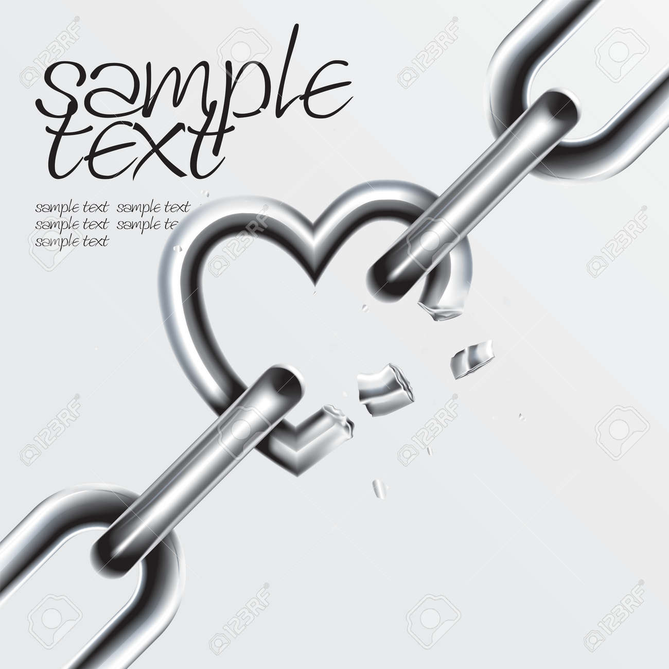 Broken Chain Set Stock Vector - 8544465