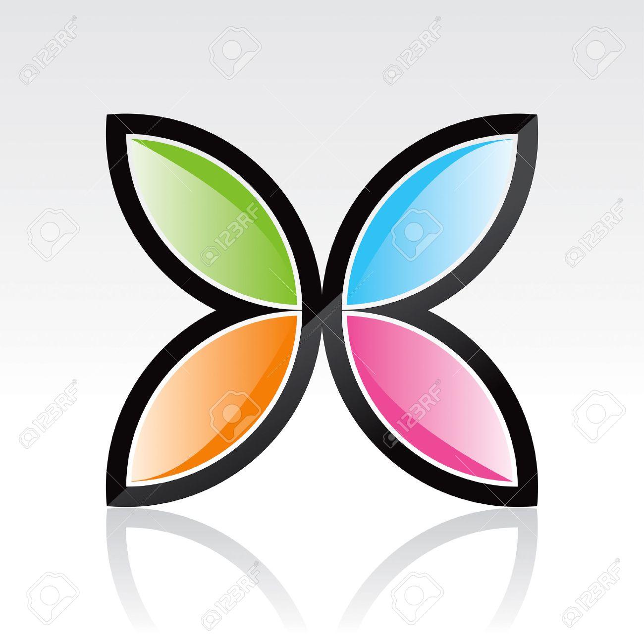 banque dimages dessin de design de logo papillon