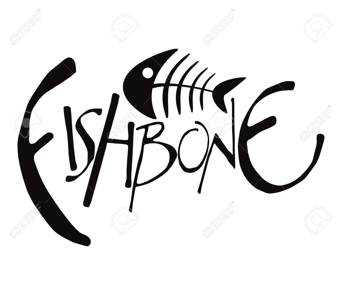 Fish Bones Drawing Fish Bone Fishbone Drawing