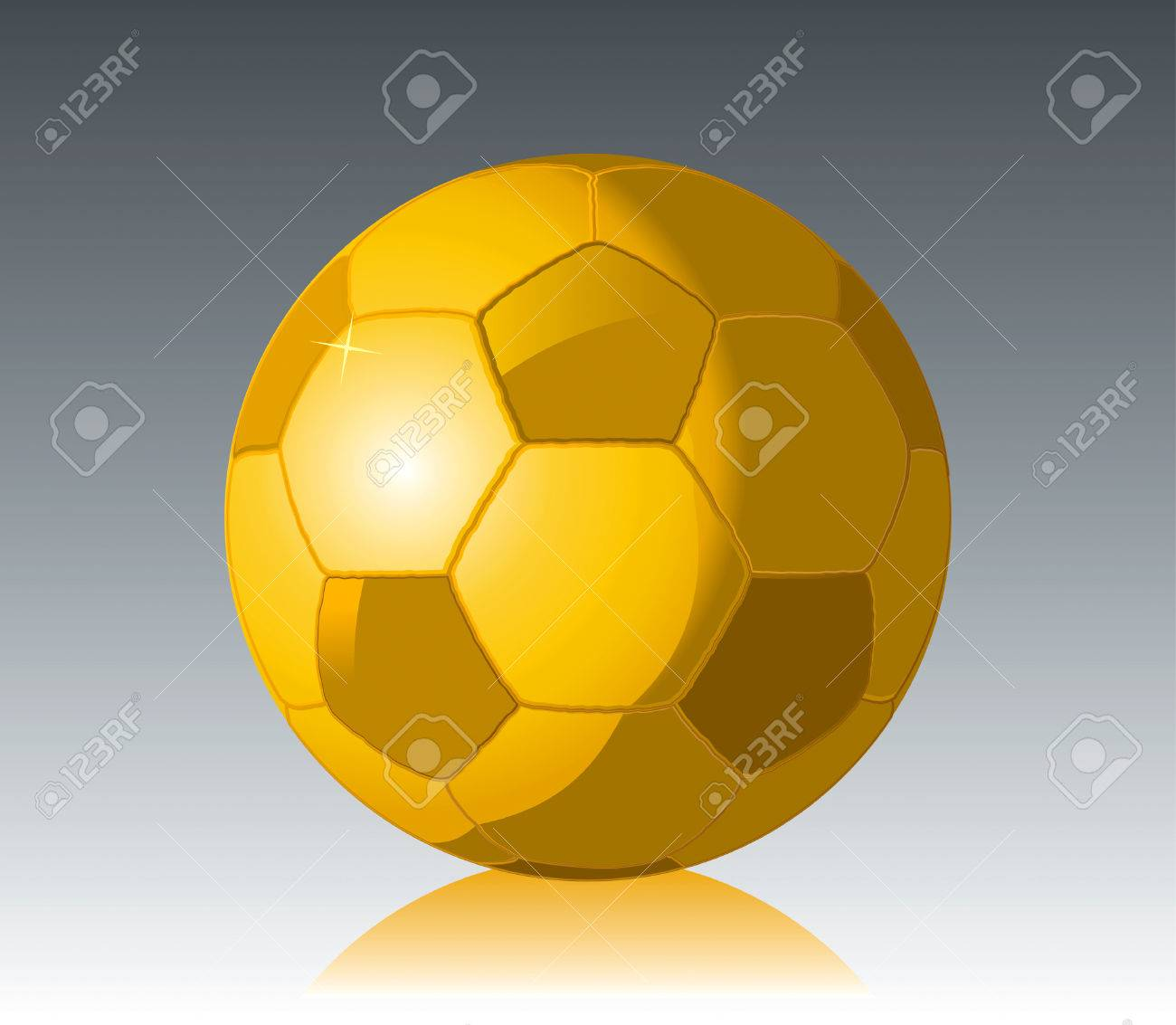 Gold Soccer Ball cup drawing Stock Vector - 8643707