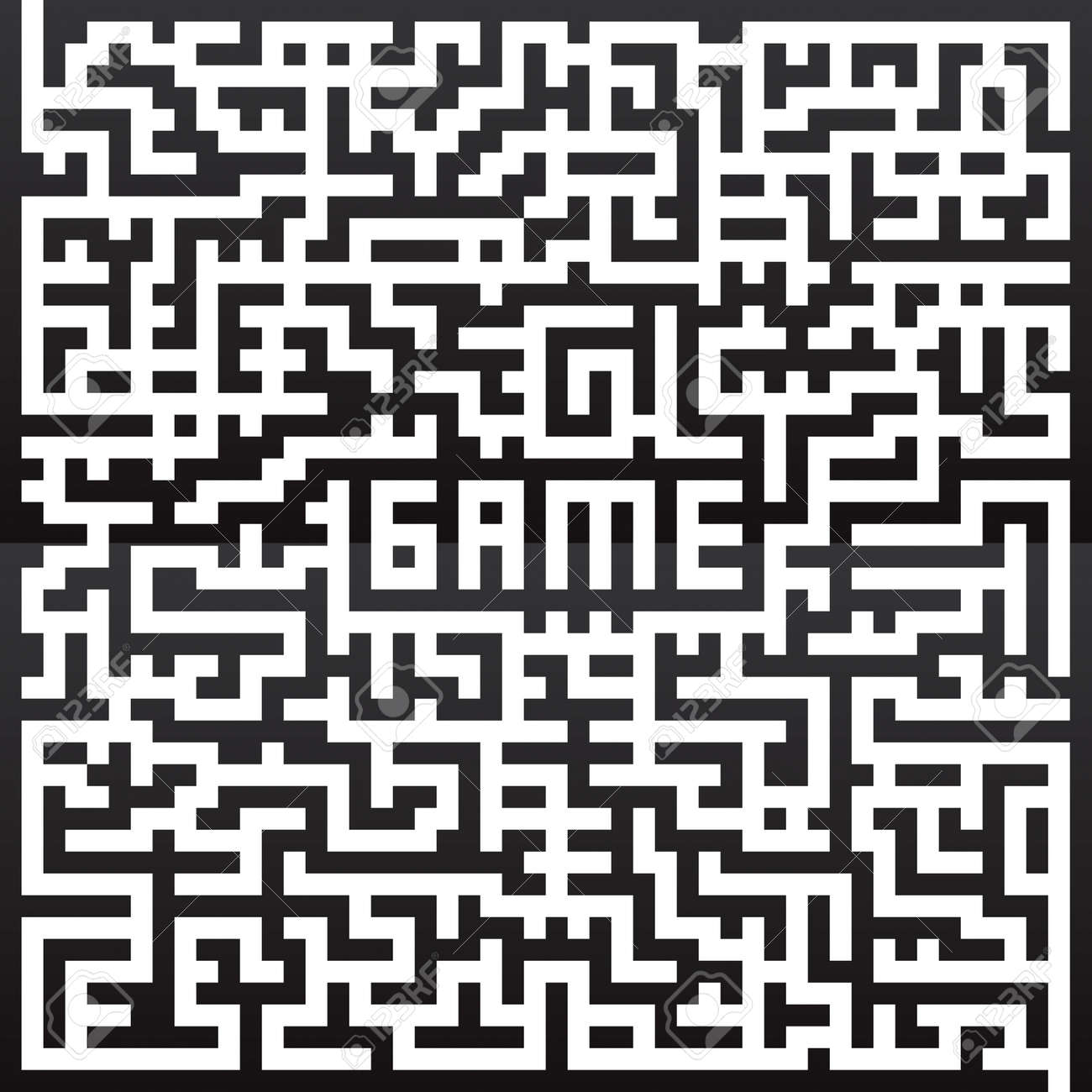 Maze Game drawing Stock Vector - 8643741