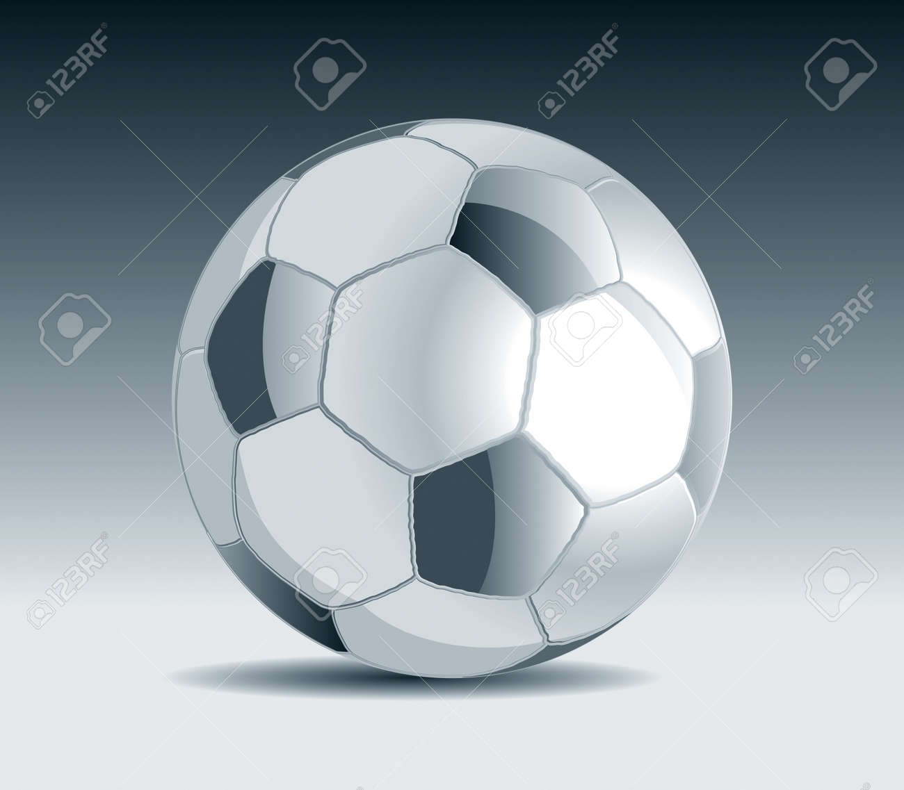 Metal Soccer Ball Drawing Stock Vector - 8643787