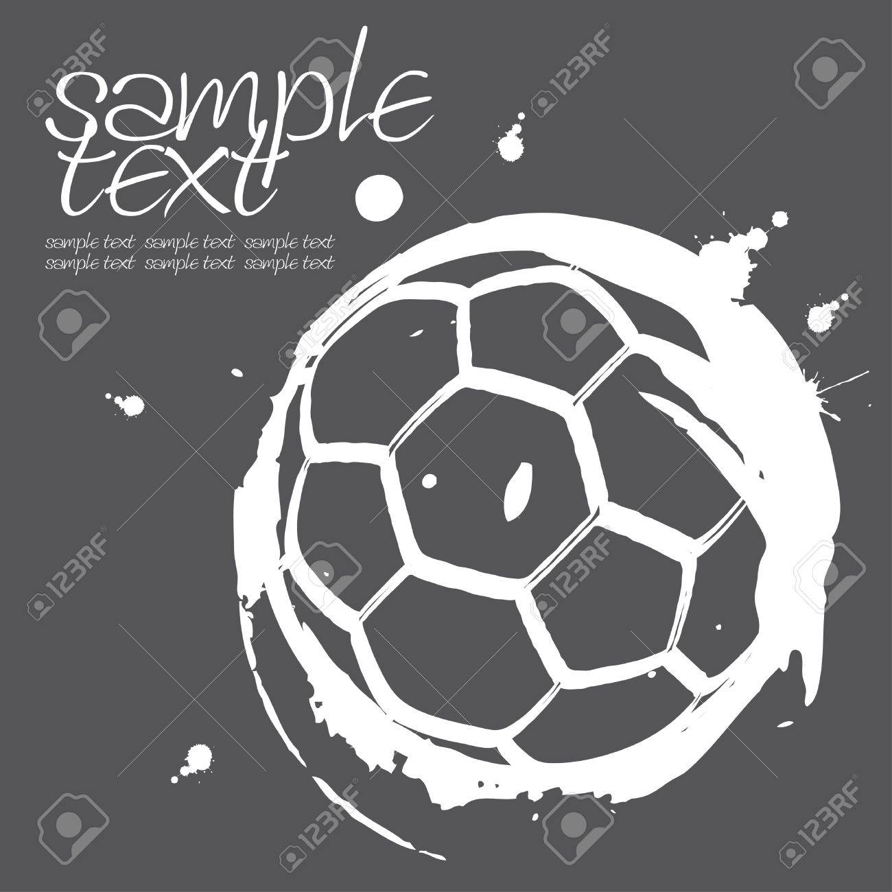 Gray top spot on the floor drawing Stock Vector - 9561504