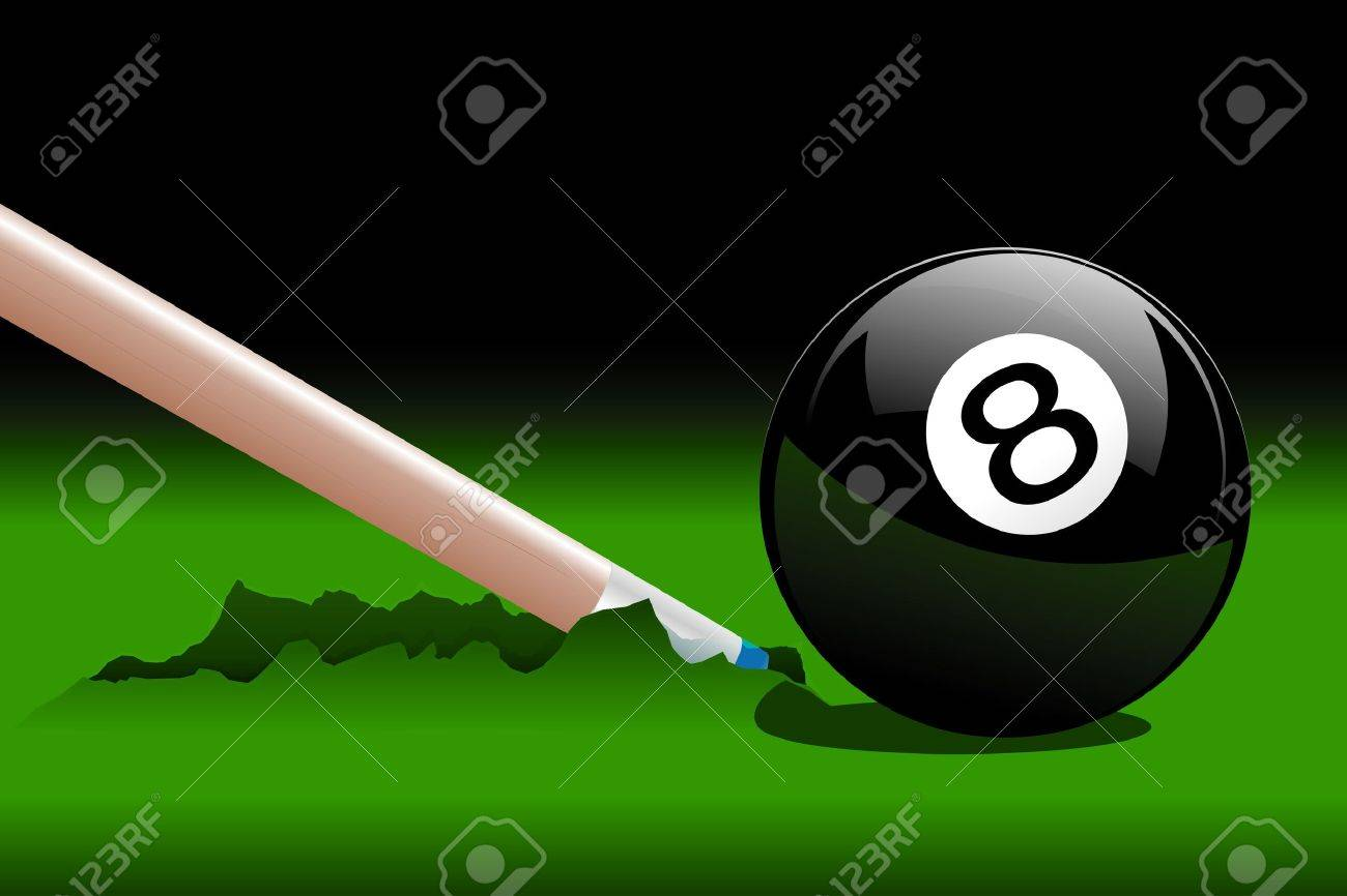 Accident During The Drawing Of Playing Billiards Royalty Free ...
