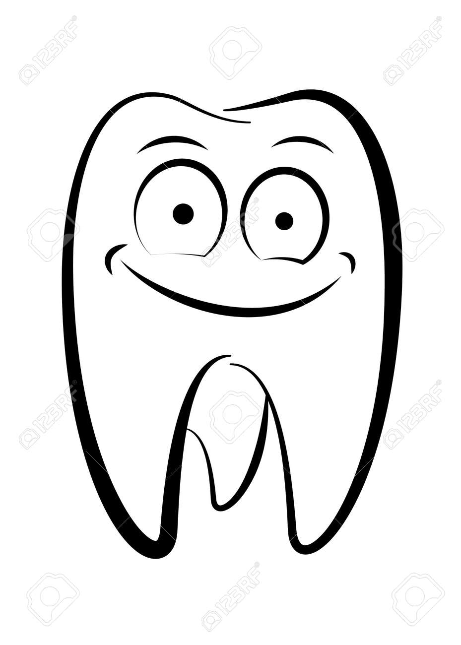 Dental character drawing on a white background Stock Vector - 9931496