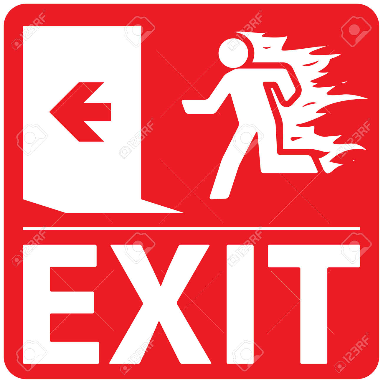 Free Clipart Exit Sign   Free Images at Clker.com - vector clip art online,  royalty free & public domain