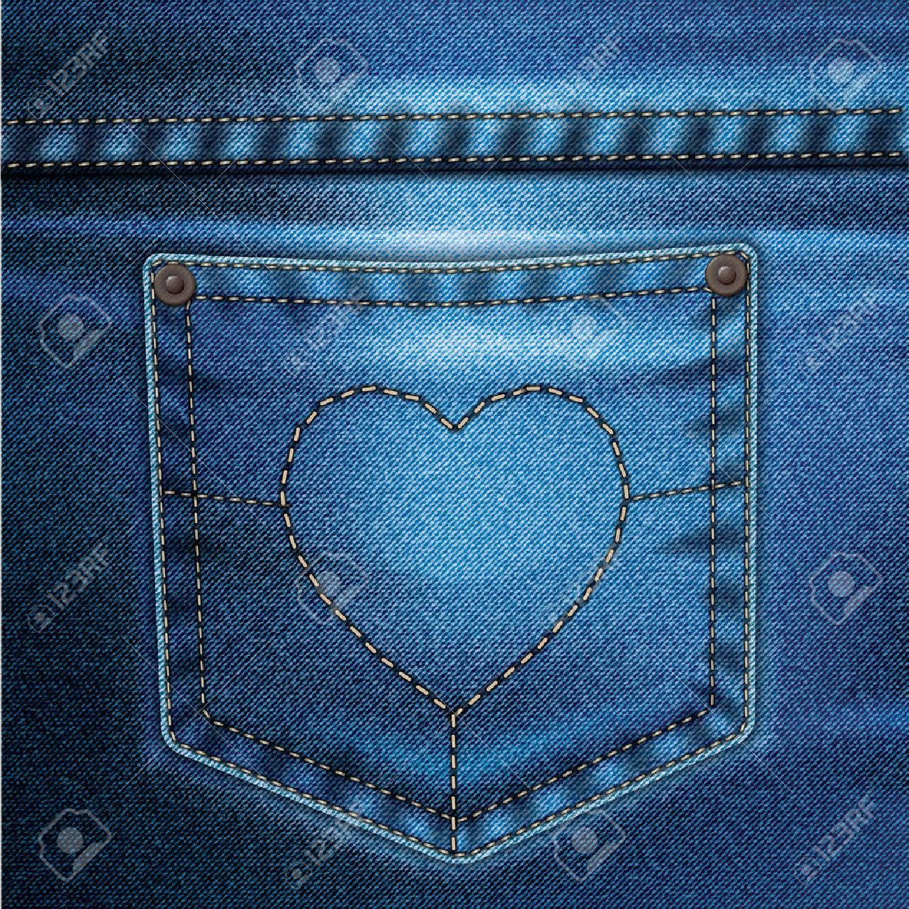 Jeans De Dessin Realiste Sur Un Fond De Couleur Clip Art Libres De