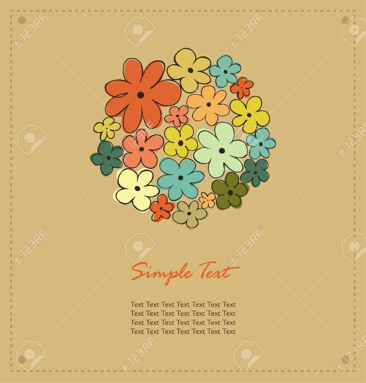 Autumn template for design with floral circle and place for your text Stock Vector - 15768958