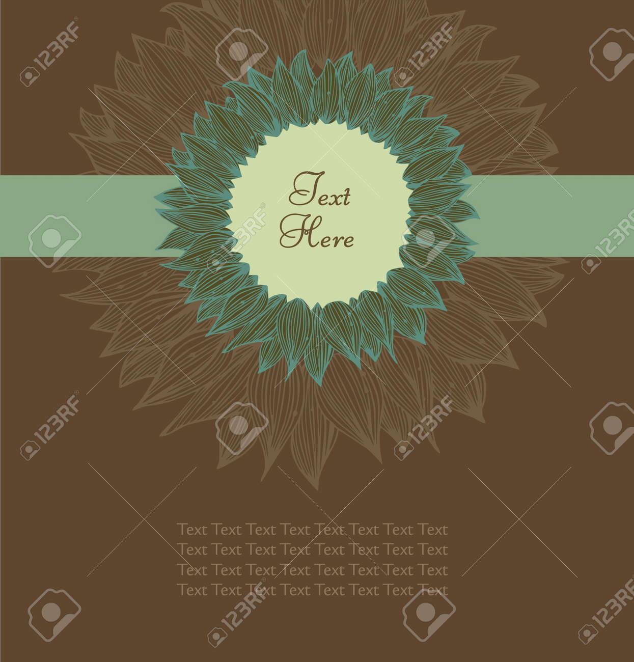 Retro flourish text banner with ribbon. Vintage floral design elements for cards, labels, sewing, arts, cards, scrapbooks, books, covers Stock Vector - 15809258