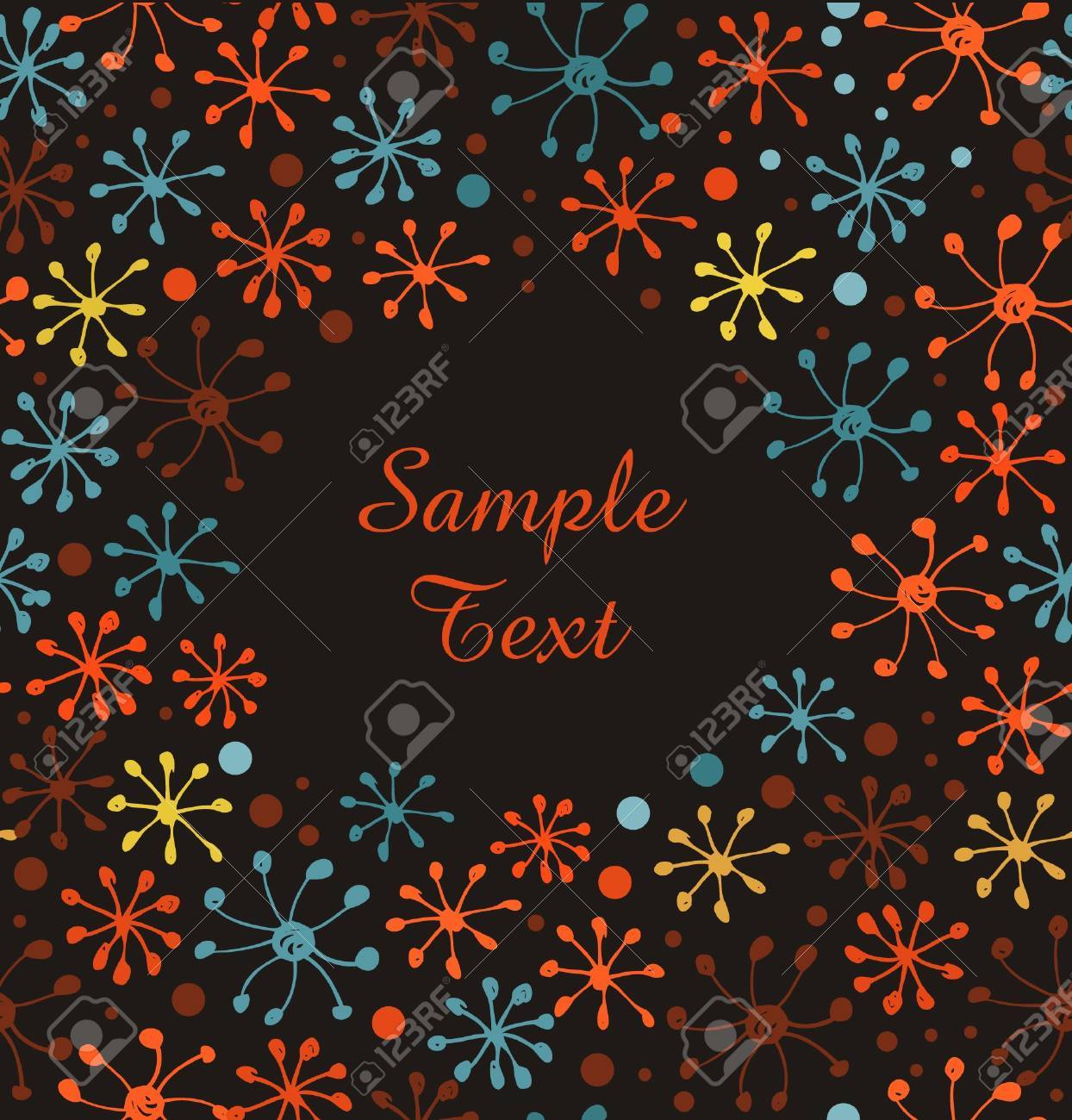 Snowflakes banner. Decorative cute hand drawn border. Doodle dot cover Stock Vector - 17088530