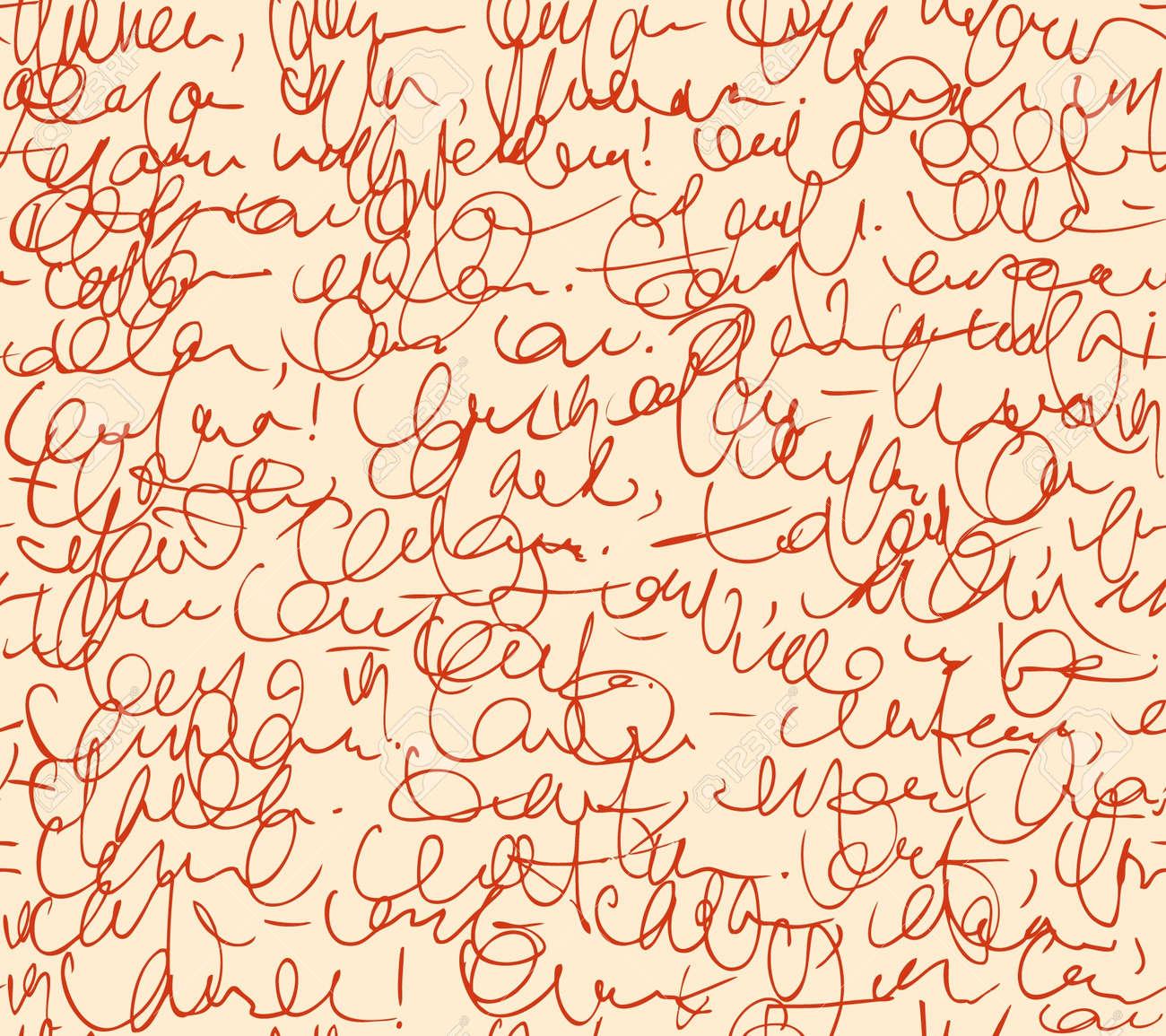Carta Modelo Inconsútil Guión Fondo Rojo Sketch De Escribir ...