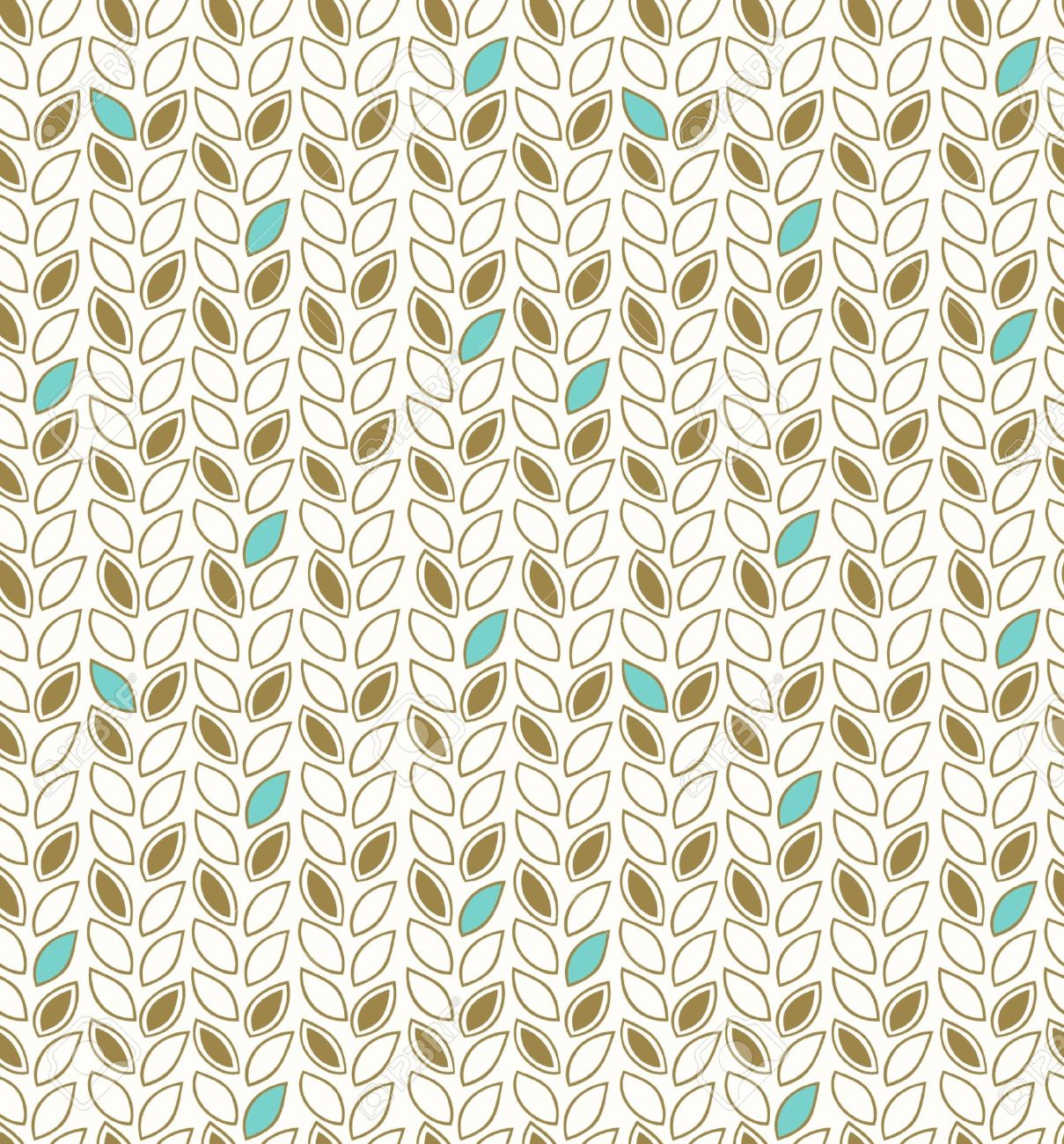 Modern Floral Pattern Seamless Background With Decorative Rows Of Leafs Template For Design Wallpapers Web