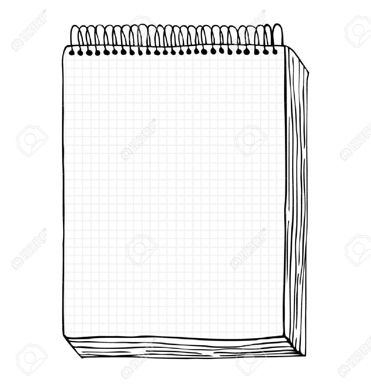 ノート クリップ アート メモ帳明確なページとの手描きの葉とノート
