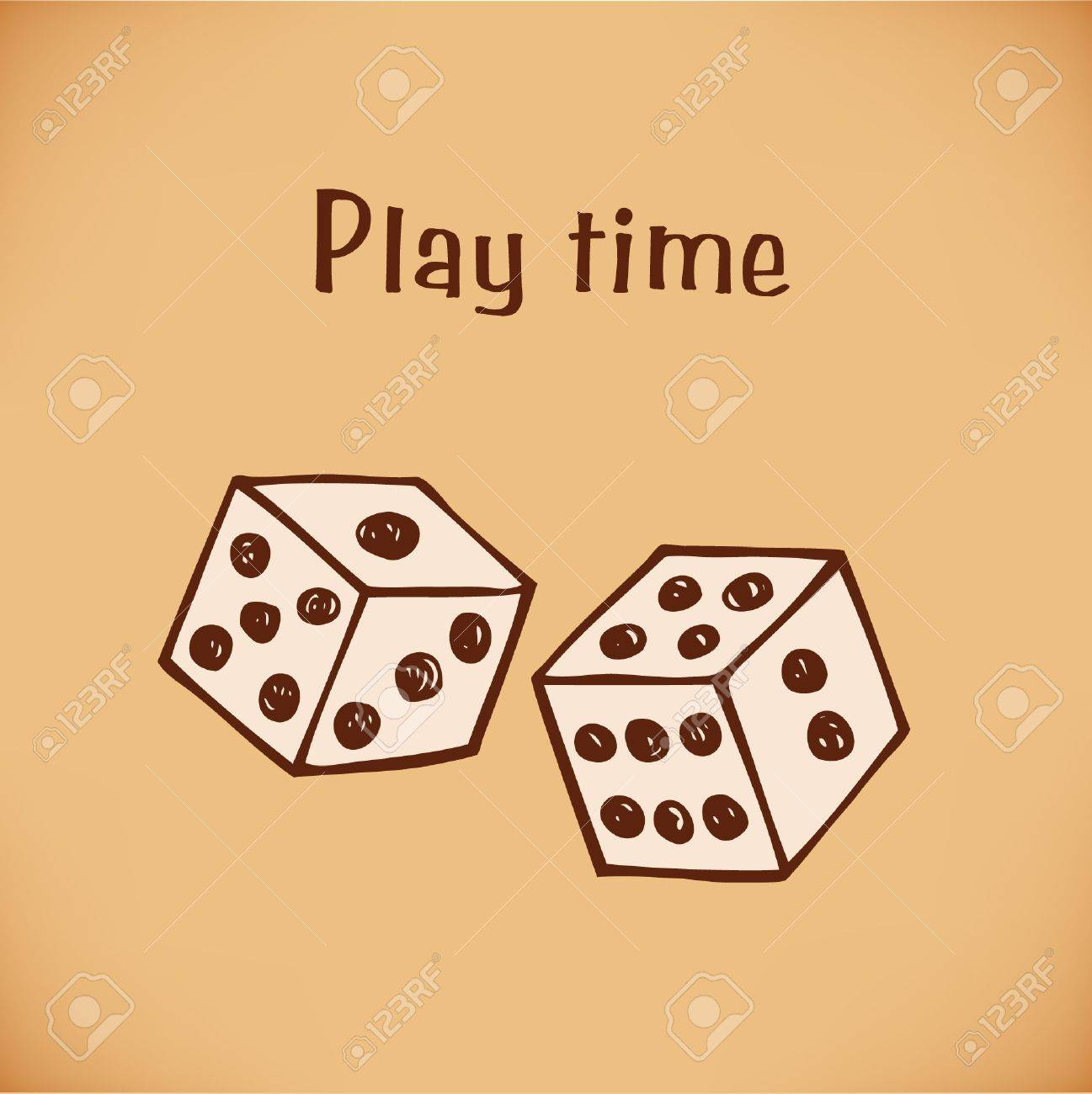 image of dice  Bricks Stock Vector - 18733277