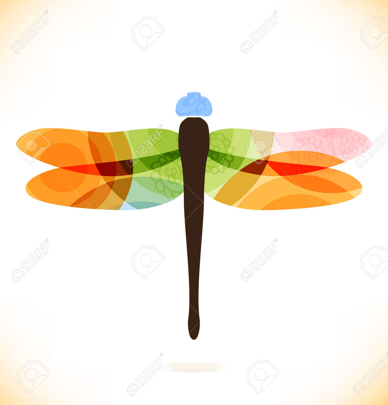 Vector multicolor isolated dragonfly  Beauty insect  Unusial element for gifts, cards, invitations Stock Vector - 21575967