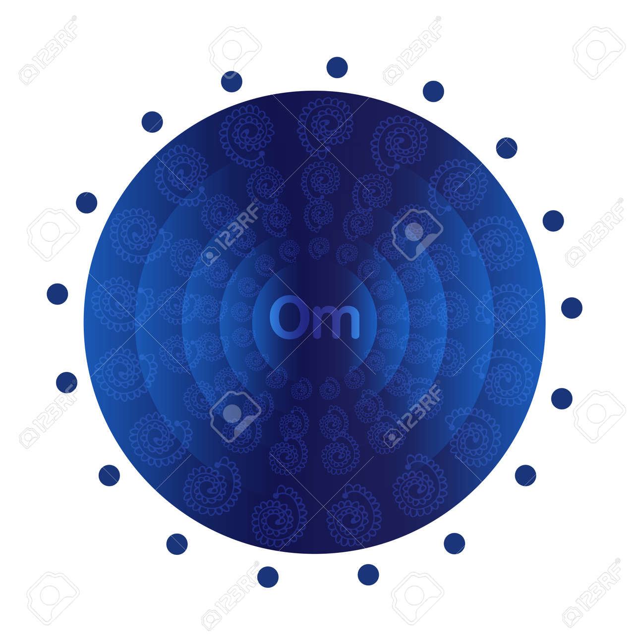 Deep blue mandala Stock Vector - 22151787